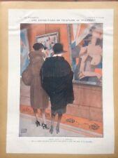 lithos art deco mode - la vie parisienne - 1919 -  dessin de léonnec  - 057
