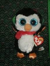 "Ty Boo NORTH * the PENGUIN with ear muffs*  6"" MWMT * Glitter eyes * RETIRED"