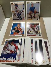 1991-92 UPPER DECK SERIES 1 HOCKEY COMPLETE SET #1-500