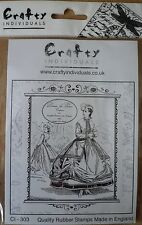 Crafty Individuals Unmounted Rubber Stamp, Dames De Paris, French Lady CI-303