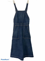 Polo Ralph Lauren Denim Jean Dress Women Size 2 Jumper Apron Overall Pocket Teen