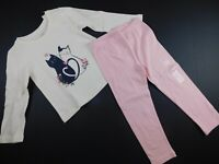 NWT Gap Toddler Girl's 2 Pc Outfit Kittens/Leggings Sizes 3 Yrs MSRP $30 New
