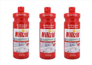 Dr. Schnell Milizid Citro Sanitärreiniger Kalklöser 3 x 1 L