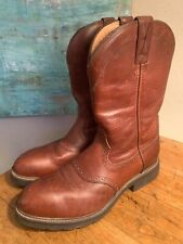 Twisted X Wellington Safety Toe Brown Leather Work Boots Men's 12EE extra wide