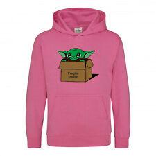 Baby Yoda Fragile Inside Unisex Pink Hoody