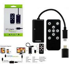 MHL To HDMI HDTV Adapter + Remote Control for Samsung Galaxy S2 S3 S4 Note 2 HTC
