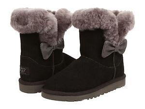 Kids UGG Australia Kourtney Boot 1005398K Black Suede 100% Authentic Brand New
