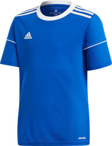 adidas Childrens Blue Squad 17 Short Sleeved Polyester Football Jersey S99151
