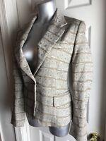 NEW Jones New York Women's SIZE 8 -CAREER Lined- Jacket Blazer MULTI PATTERN