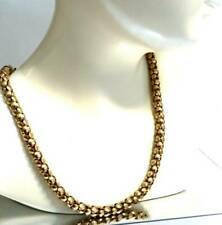 ANTIQUE  VINTAGE FANCY CHAIN NECKLACE GOLD PLATED FRETWORK CHAIN NECKLACE,