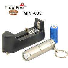 TrustFire 1800Lm CREE XM-L2 LED Mini Flashlight Torch Key Ring W 16340 Charger