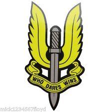 SAS que se atreve gana servicio de aire especiales militares calcomanías gráficos personalizados X 2 pequeñas
