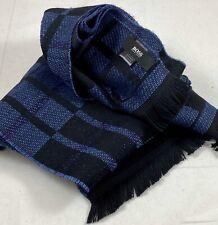 Hugo Boss Scarf Mens 65x10 Blue/Black