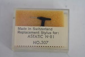 Replacement Diamond Turntable Stylus for ASTATIC N-81 NOS