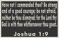 JOSHUA 1:9 Iron-On Patch Christian Morale Military Tactical Emblem
