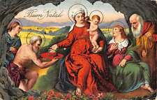 Buon Natale Religious Jesus Mary Followers Holy Antique Postcards K39114