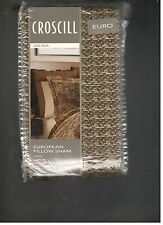 Croscill Salida Multi Euro Sham Brown Tweed New 1st Quality
