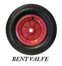 """Red brouette 16 """" / chariot roue pneumatique 4.80 / 4.00 - 8 bent valve"""