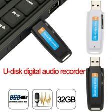 32GB Digital Diktiergerät Aufnahmegerät Sprachaufnahme Voice Recorder USB Disk