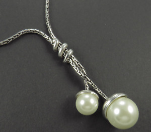 Brighton Twisted Pearl Lariat Necklace