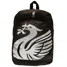Liverpool FC Official Black Nylon Backpack School Bag With Mess Side Pockets