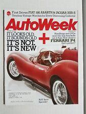 Auto Week Magazine August 18, 2008 - Fiat 500 Abarth - Jaguar XKR-S - Ferrari P4