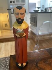 Hand Carved & Painted Wood ST FRANCIS of Assisi FIGURE Santos