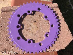 PRO NECK 44T CHAINWHEEL CHAIN RING PURPLE BMX NOS OLD SCHOOL 110/130 SE PK HARO