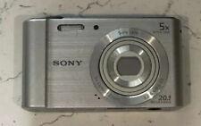 Sony Cybershot DSC-W800 Digital Compact Camera- 5x Optical Zoom- 20.1 MP- Silver