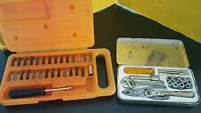 Vintage Torx Head Kit-16pc Ratchet Tool Wrench Set-Non Rust Nickel Plated Blades