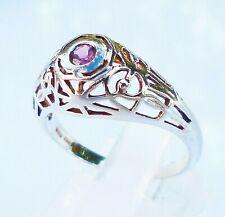 topmk-schmuck Ring, 925er Silber/rhodiniert, PINK TURMALIN, Gr.: 53 (16,8 mm Ø)