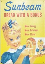 Fridge Magnet 2x3 Sunbeam Bread Little Miss Sunbeam Retro Vintage Tin Sign