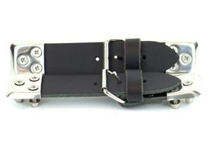 Bonnet Straps Black Leather