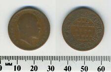 India - British 1906 (c) - 1/4 Anna Bronze Coin - Edward VII
