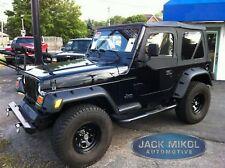 """New 6"""" Wide Black Fender Flares 1997-2006 Jeep Wrangler TJ 6 Piece Set"""