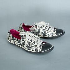 Converse Low Top Trainers Sneakers Black Floral Vintage Unisex UK 4 EU 37 US 6