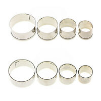 4 pcs Stainless Steel Round Circle Cookie Fondant Cake Mould Cutter Tool*~*