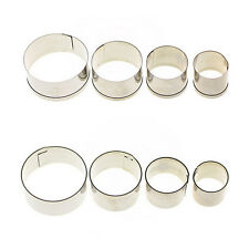 4 pcs Stainless Steel Round Circle Cookie Fondant Cake Mould Cutter Tool*v*
