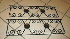 Regal Hängeregal Wandregal Metall für 3 Holzböden  (415)