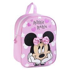 NUOVO Ufficiale Minnie Mouse Disney Ragazze Bambini Classico Zaino Zaino Scuola Borsa