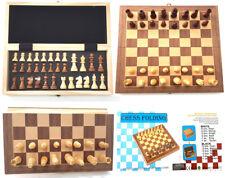 Juego de tablero de ajedrez magnético plegable de madera de alta calidad de mano de obra de acabado de madera