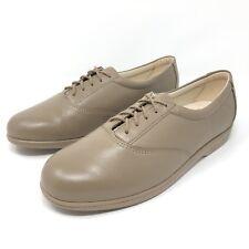 NEW SAS Whisper Mocha Leather Lace Up Diabetic Oxford Womens Size 10.5 Slim