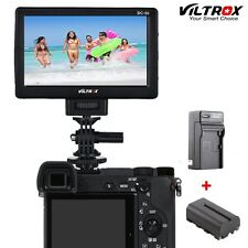 Viltrox DC-50 Portable 5'' Clip-on LCD HDMI Camera Video Monitor+Battery+Charger