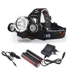8000LM LED Stirnlampe 3xXM-L2 USB Kopflampe 2X18650 Akku EU Ladegerä DE