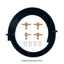 Peugeot Brass Injector Leak Off Connector Kit Bosch 3 x 180°, 1 x 90°, 1 m Hose