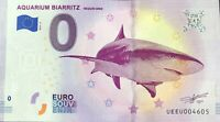 BILLET 0 EURO AQUARIUM DE BIARRITZ FRANCE 2019-4 NUMERO DIVERS