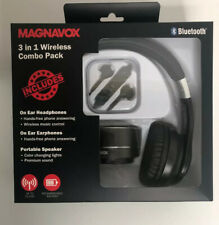 Magnavox 3 in 1 wireless combo pack Bluetooth, Headphones, SPEAKER