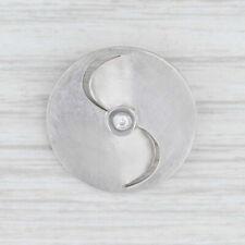 New Bastian Inverun Diamond Pendant Sterling Silver Curved Cutout Circle