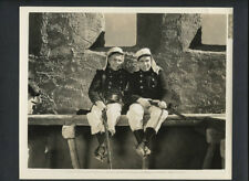 J CARROL + FRANK NAISH ON SET OF BEAU GESTE - 1939 VINTAGE DOUBLEWEIGHT CANDID