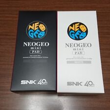SNK NEOGEO MINI Official neo geo Controller PAD Black & White Set JAPAN F/S
